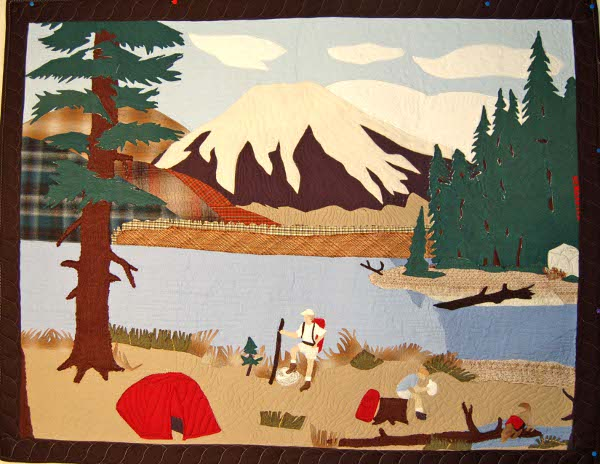 Bereavement Wall Hanging - Campsite Picture for Son