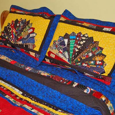 Quilted Tie Shams