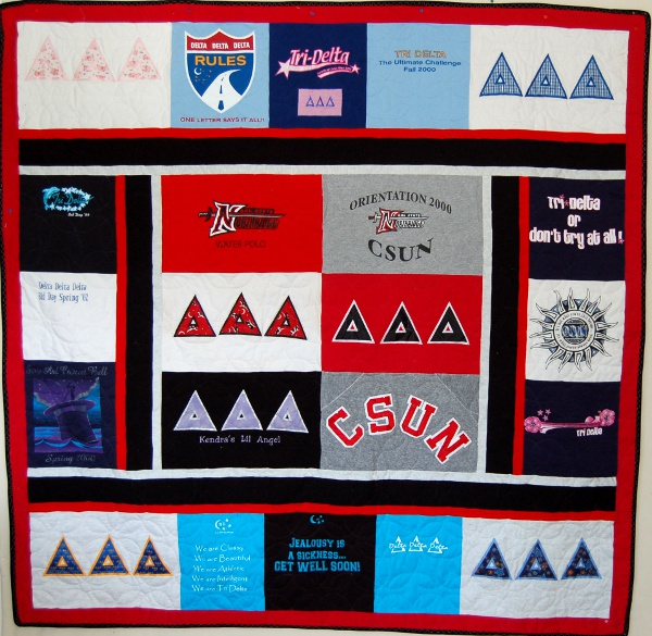 Sorority Quilt - Collette's T-Shirt Quilt
