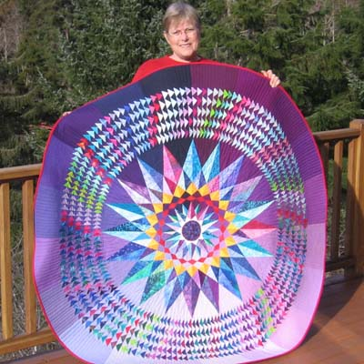 Sue and the Mariner's Compass Quilt