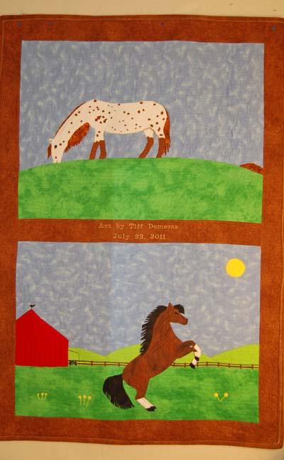 Art Quilt from Original Drawing