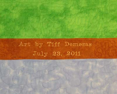 Label for Art Quilt