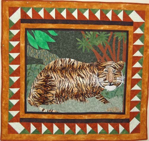 Quilt Featuring Bengal Tiger