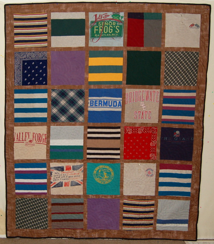 Refurbished 20-year-old t-shirt quilt