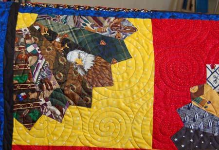 Detail 2 Tie Quilt
