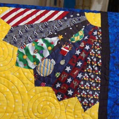 Detail 3 Tie Quilt