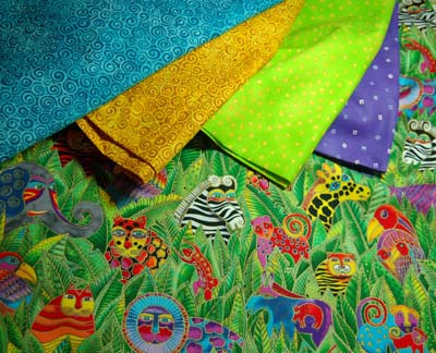 Fabrics for jungle baby quilt